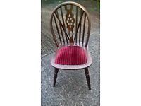 4 x pine wheelback chairs