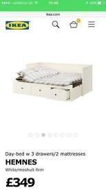 NEW BUT WITHOUT BOX IKEA DAY BED & 2 X MATRESSES