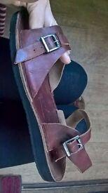 'GreenShoes' Sandals Handmade Jesus-style Flat Summer VGC
