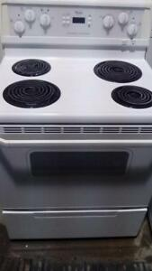 Whirlpool white coil top stove - FREE DELIVERY+INSTALLATION