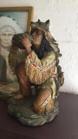 Native American Indian statues