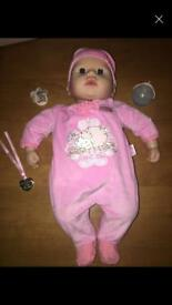 Baby Annabell moving & talking doll