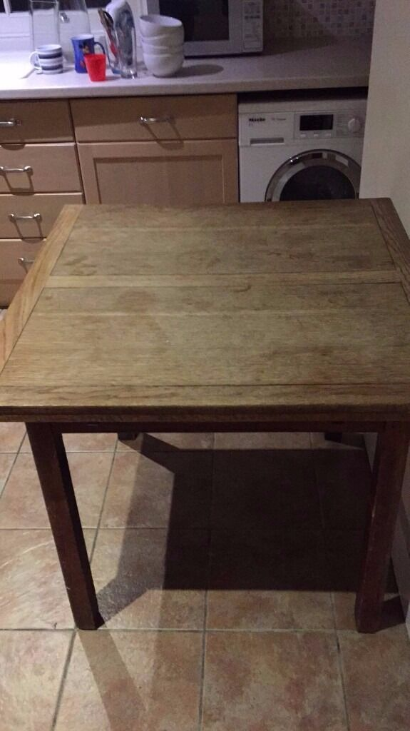 Wood Kitchen table, seats 4 extends to seat 8in Finchley, LondonGumtree - Wood Kitchen table, seats 4 extends to seat 8, great for small family who like to attend. Pick up required by Saturday 1st April