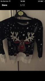 Girls Christmas jumper 3/4