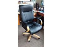 Kingston Oak Executive Leather Office Chair