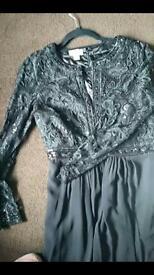 Lovely full length black Monsoon dress.