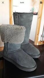 Emu Grey long boot