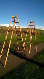 Pair of wooden decorators trestles' £120.00 ono