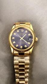 Mens automatic watch gold collection