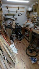 Workshop share/bench space to rent in professional workshop. (14m2 +more) £550 p/m