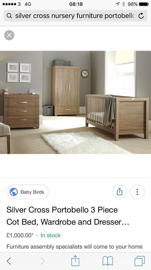 Silver Cross 3 Piece Nursery Furniture Set