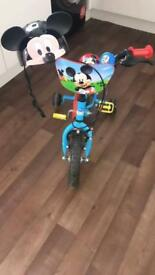 Mickey Mouse bike and helmet