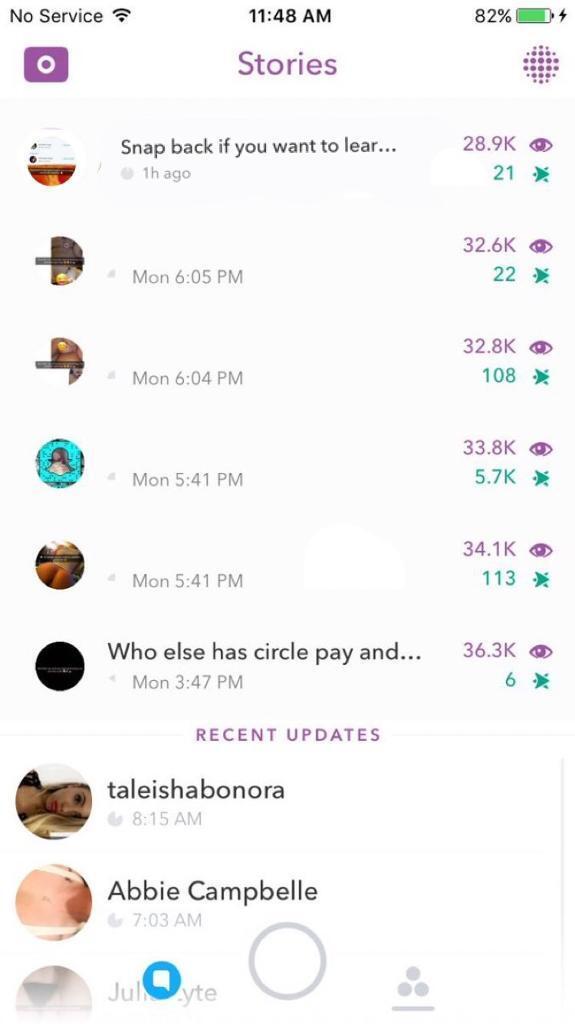 Snapchat account 36k