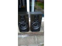 HUGE PAIR FLOOR STANDING QUAILITY AIWA SPEAKERS