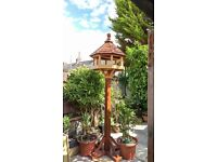 Beautifully handcrafted bird table for sale
