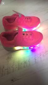 Girls pink flashing heelys