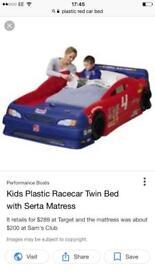 Boys racer car bed