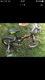 Childs ben 10 bike