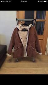 Maine brown sheep skin jacket