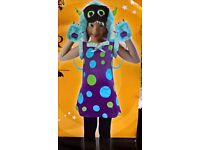 new girls little monster fancy dress for hallowen