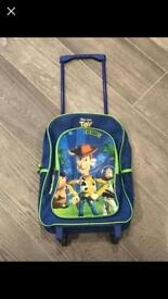 Toy story bag pack on wheels