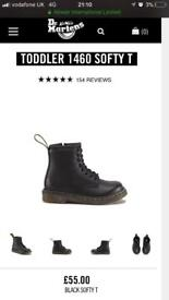 Dr Martens - baby size 6. Black leather. £55 in shops