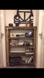 Very solid hand made bookcase urban-industrial style- different sizes upon request