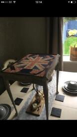 Shabby Chic Union Jack topped table