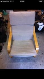 Cream and Wooden Chair