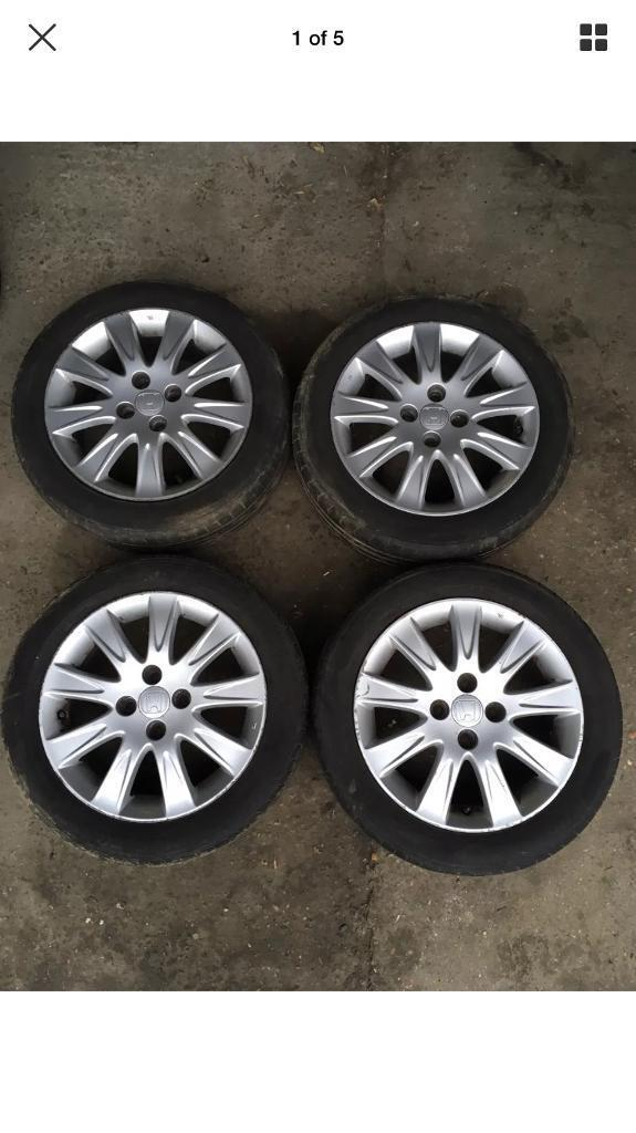 Genuine Honda Jazz 15 Alloy Wheels With Tyres Alloys Set 1855515