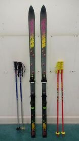 K2 TRIAXIAL SKIS 185+SALOMON BINDINGS+2PAIR POLES 115 cm (LEKI&VÖKIL) 100£