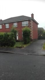 Popular area of larne 3 bedrooms lounge kitchen and bathroom off street parking oil heating