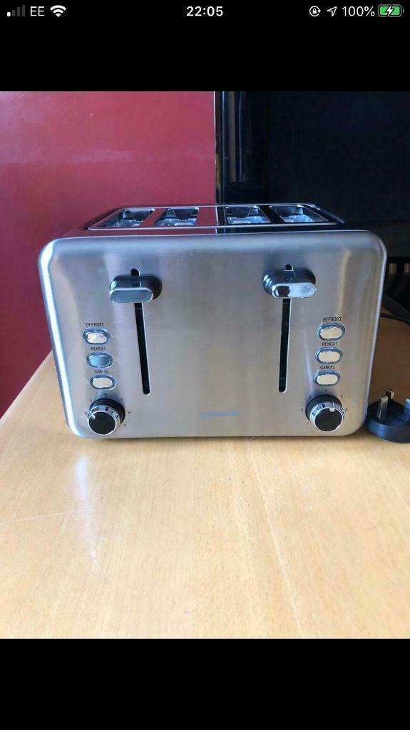 CookWorks 4 Slice Toaster Stainless Steel New | in Reading, Berkshire | Gumtree