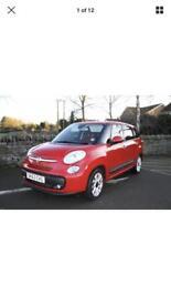 Red Fiat 500L diesel low tax 7 seats mpv