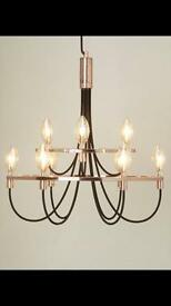 Bhs chandelier bronze and black
