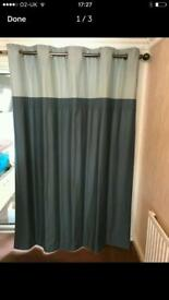 Eyelet green curtains from Next