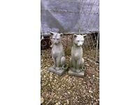 Statue Stone - Concrete Cat/s (pair £72)