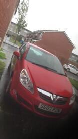 5 door Vauxhall Corsa Red 1.0 petrol