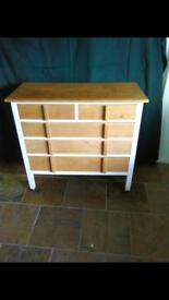 Edwardian solid oak chest of drawers - restored and modernised