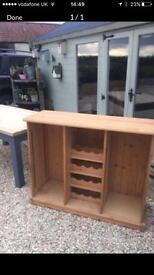 Pine sideboard/wine rack/ storage