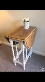 Solid Wood Folding Butterfly Table - shabby chic farmhouse style