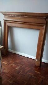 Wooden fire surround - Mantlepiece