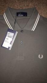 BNWT FRED PERRY POLO SHIRT SIZE SMALL