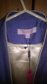 JAQUES VERT 2PIECE SUIT NEW WITH TAGS SIZE 24 INCORNFLOWER LILAC COLOUR