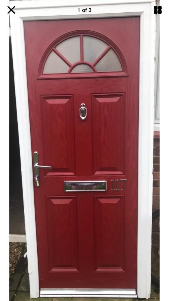 Red Composite Front Door Width 900 Height 2060 In