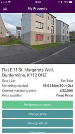 Quarter share 2 bedroomed flat dunfermline
