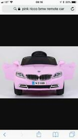 BRAND NEW PINk BMW REMOTE CONTROL CAR