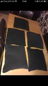5 x black cushions