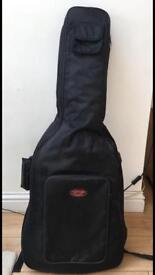 Fender black acoustic guitar