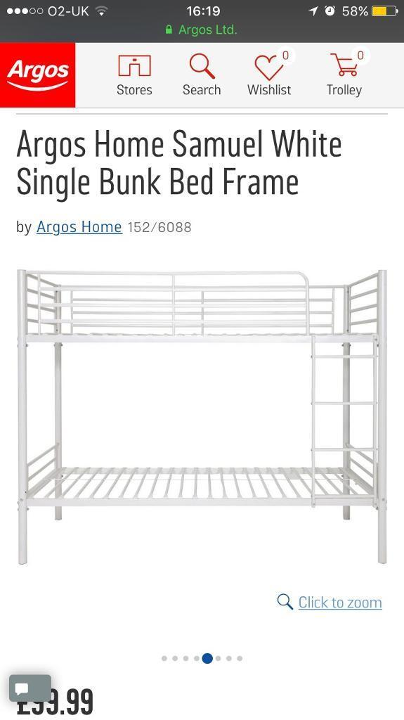White Metal Bunk Bed Frame In Thame Oxfordshire Gumtree